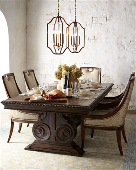 Mk Donabella stockard dining table donabella tufted chairs black