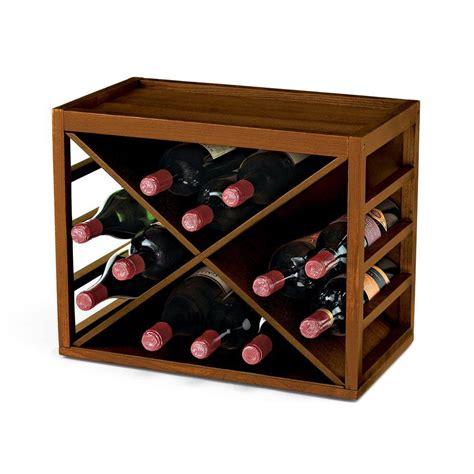 home wine storage epicureanist 18 bottle metal wine rack in black ep wire2b