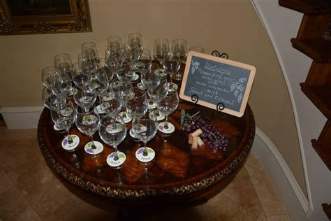 Custom Hand Lettering for a Wine Themed Couples Shower