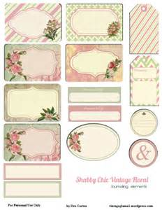 free printable download shabby chic floral journaling
