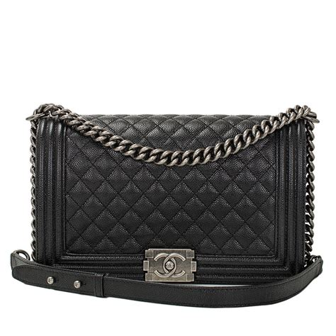 Tas Chanel Boy Classic Medium Gold Ap6308 Chanel Black Caviar New Medium Boy Bag At 1stdibs