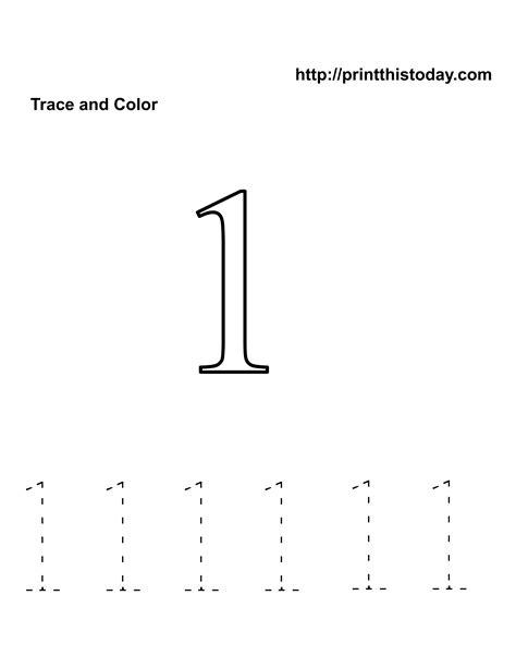 pre k worksheets number tracing preschool number one free kindergarten math worksheets number one 1