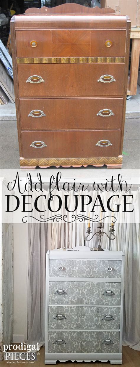 Diy Decoupage Furniture - decoupage furniture to add flair prodigal pieces