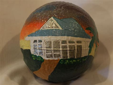 Custom artwork paintings on coconuts