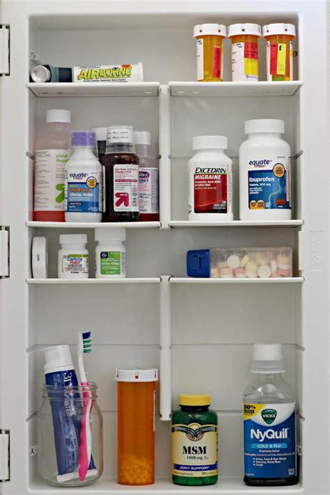organize medicine cabinet 10 spaces to organize in 15 minutes