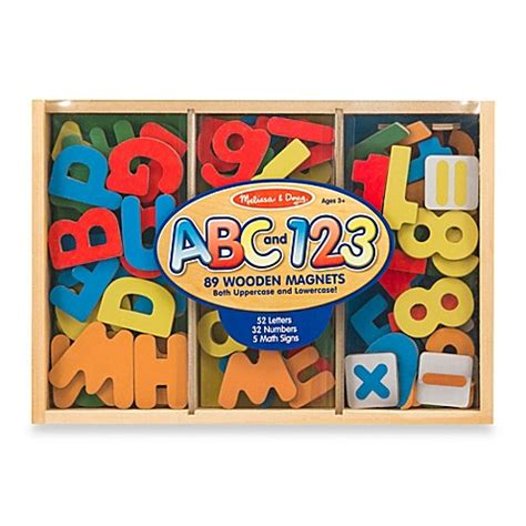 melissa doug 174 letters and numbers magnetic bundle bed