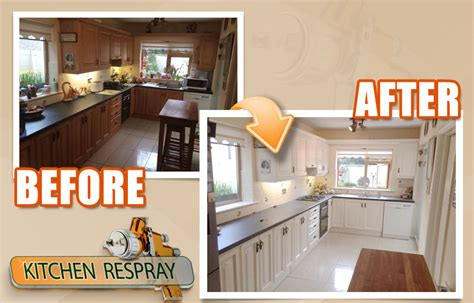 Respraying Kitchen Cabinets by Kitchen Resprays Finish Is Factory Like And Never Chips