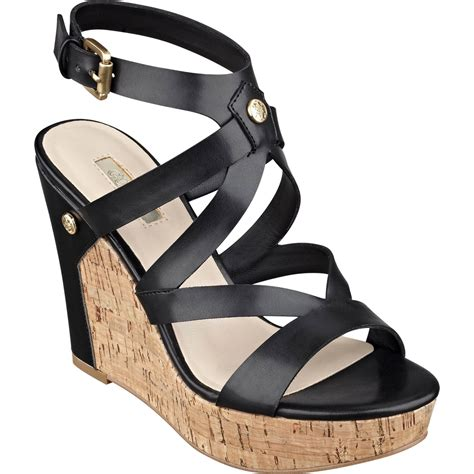 guess wedge shoes guess harlee cork platform wedge sandals wedge shoes