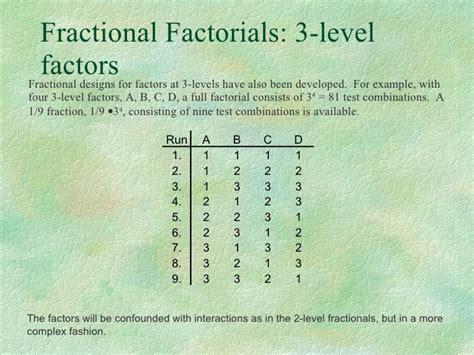 design expert fractional factorial fractional factorial designs