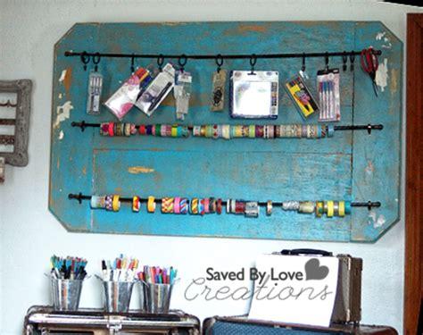 diy washi tape storage and vintage trunk to craft organizer