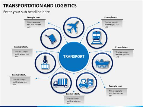 template powerpoint logistics transportation logistics process powerpoint sketchbubble