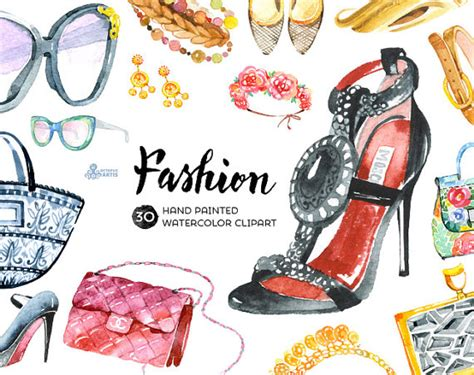 imagenes de outfits vintage fashion watercolor clipart 30 hand painted by octopusartis