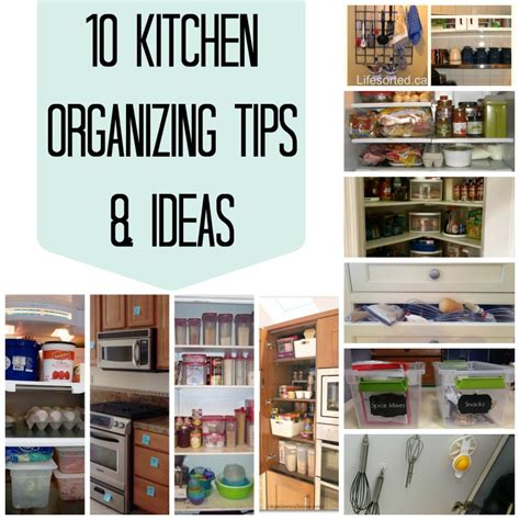 10 kitchen organizing tips ideas