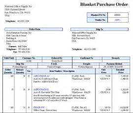 blanket purchase order agreement template accountmate business management and accounting software