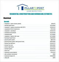 Formal Estimate Template by 6 Contractor Estimate Templates Free Word Excel Pdf