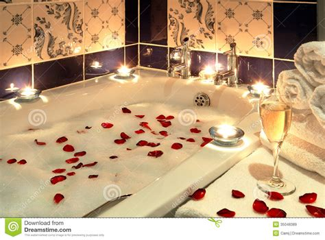 Candle Lit Bedroom by Luxury Bath Royalty Free Stock Images Image 35048389