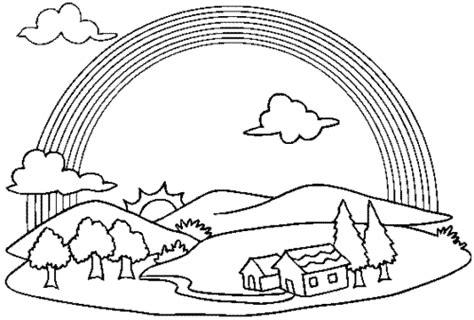 imagenes de paisajes sin color paisajes con arco iris para pintar colorear im 225 genes