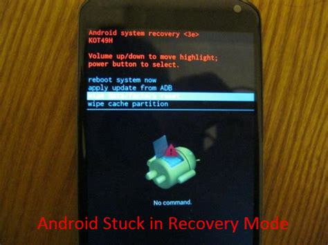 reset android from adb fix android stuck in recovery mode and recover lost data