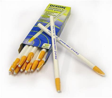 dixon 00092 china markers white 12 pack with a truck