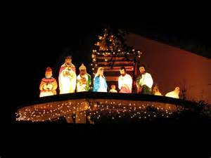 lights nativity bloombety nativity outdoor lighted decorations