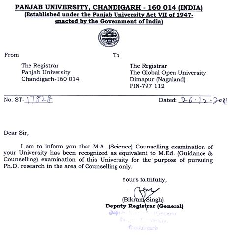 Verification Letter Of Graduation the global open nagaland