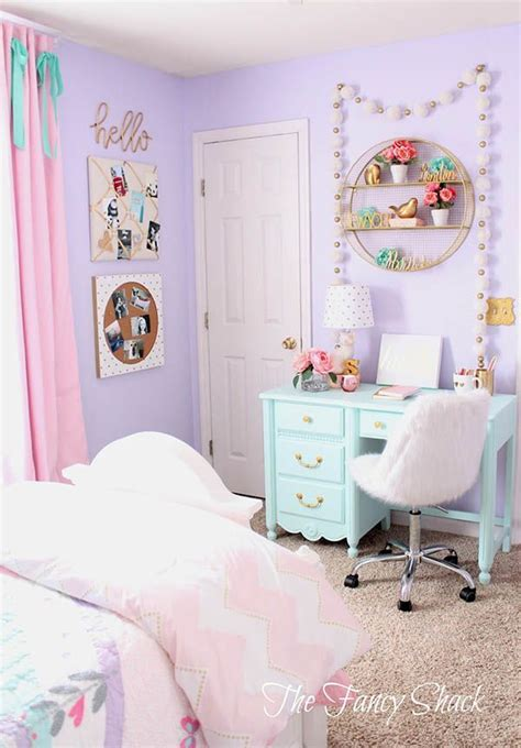 unique purple bedroom ideas  teenage girl pastel