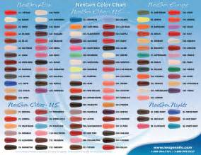 nexgen nails color chart nexgennails colors brochure artboard 3 nexgen nails