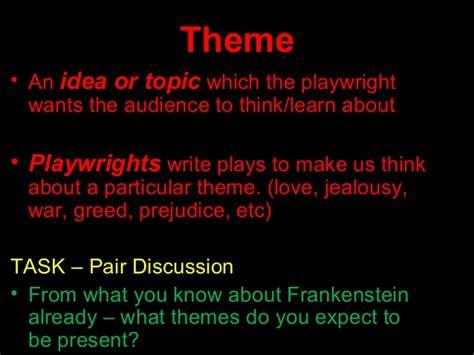 frankenstein themes of love frankenstein presentation juniours