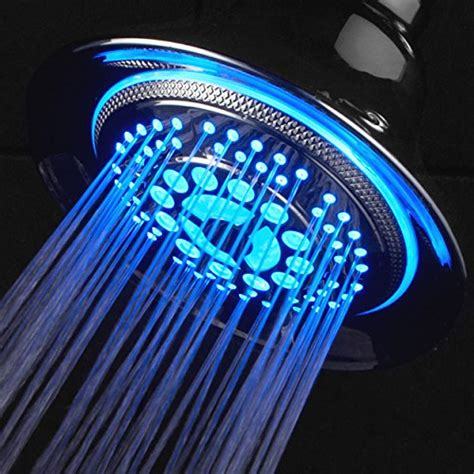 Bathroom Lighting Color Temperature - dreamspa 174 all chrome water temperature color changing led shower head special holiday price