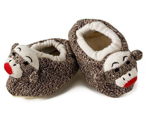 sock monkey house shoes toddler sock monkey slippers sock monkeys doll slipper pair for toddlers cozy