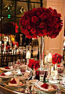 Red Wedding Table Centerpieces