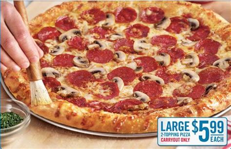 dominos large  topping pizza   southern savers