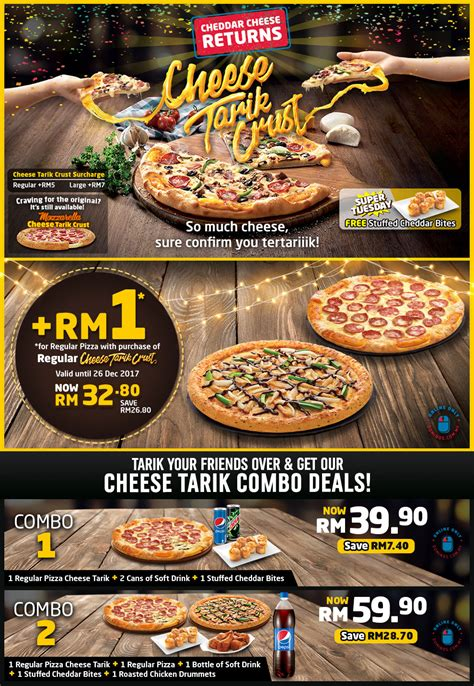 domino pizza favorit domino s pizza rm1 deal 一令吉比萨优惠促销