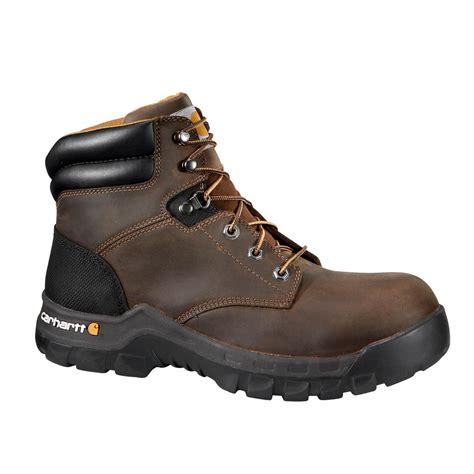 carhartt rugged flex 6 work boots leather s carhartt rugged flex s 13m brown leather nwp soft toe