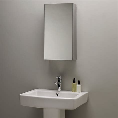 small bathroom mirror cabinet buy john lewis single mirrored bathroom cabinet small