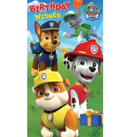 printable birthday card paw patrol paw patrol happy birthday pictures to pin on pinterest