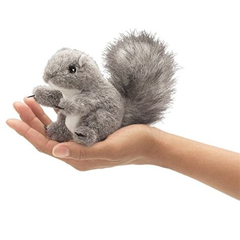 folkmanis mini gray squirrel finger puppet import it all
