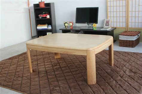 japanese heated table japanese kotatsu coffee table rectangle 120cm natural