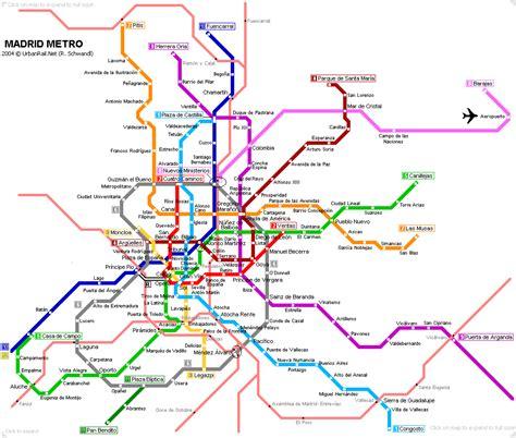 plano metro de madrid lineas plano metro madrid