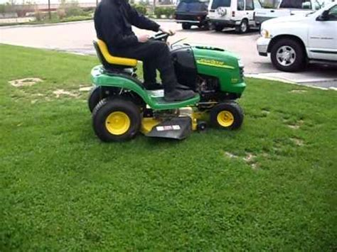 2003 john deere l100 5 speed riding lawnmower tractor