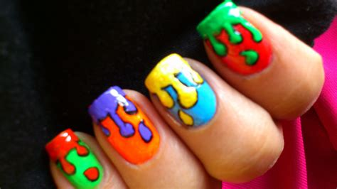paint colorful nail for