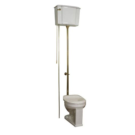 What Are Water Closets by Pegasus 2 1 6 Gpf High Tank Water Closet Toilet In White With Brass Trim 2