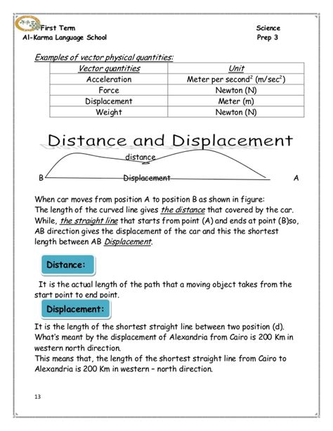 distance and displacement worksheet with answers collection of displacement worksheet bluegreenish