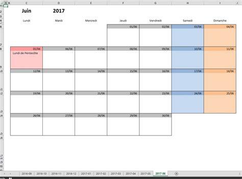 calendrier scolaire 2016 2017 en excel et pdf excel