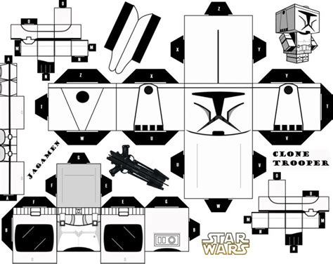 Paper Craft Wars - clone trooper ver 2 cubeecraft by jagamen deviantart