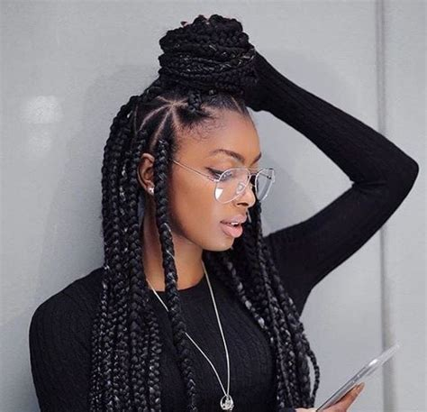 thick box braid hairstyles inspiring ways to style your thick box braids