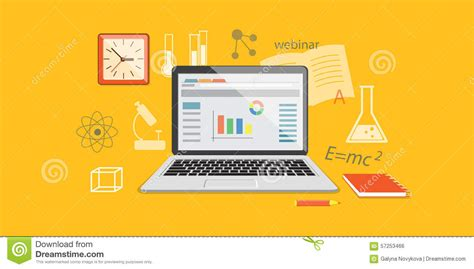 banner for online education site stock vector image