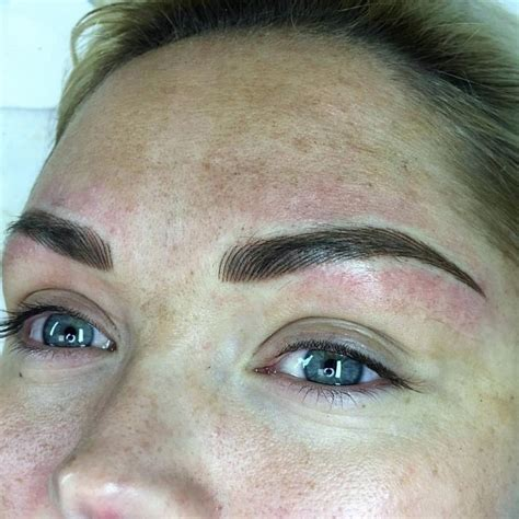 non permanent wall paper hair stroke eyebrows with shading permanent make up