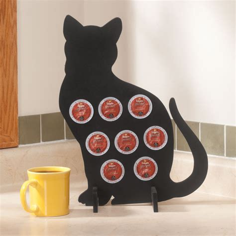 cat pods cat silhouette coffee pod holder spice shelf walter