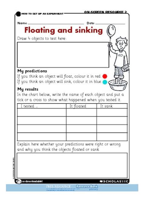 Sinking Sheet by Floating And Sinking Free Primary Ks1 Teaching Resource